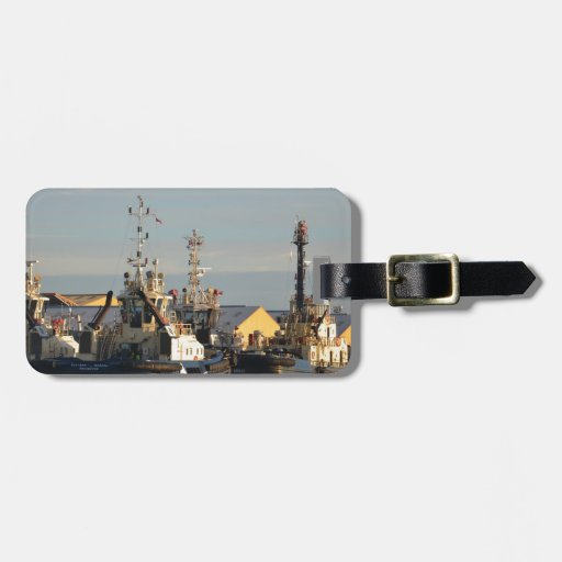 Tugs on the Swale. Luggage Tags
