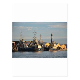 Tugs on the Swale. Postcard