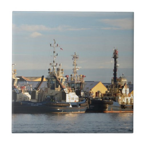 Tugs on the Swale. Ceramic Tiles