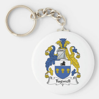 Tugwell Family Crest Basic Round Button Key Ring