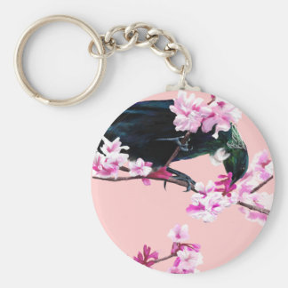 Tui Bird in the Cherry Blossoms Key Ring