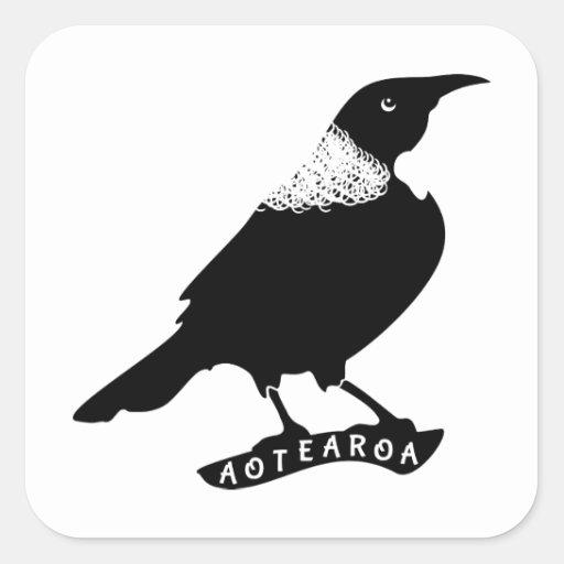 Tui | New Zealand / Aotearoa Square Sticker