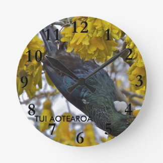 Tui of Aotearoa Round Clock