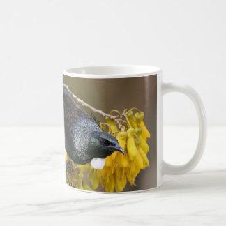 Tui on a Kowhai tree Coffee Mug