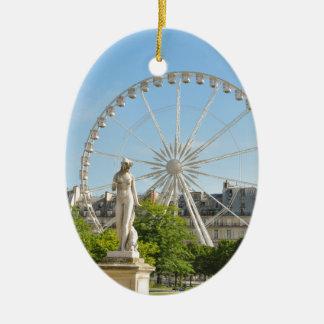 Tuileries gardens in Paris, France. Ceramic Oval Decoration