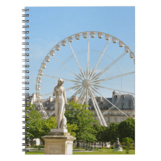 Tuileries gardens in Paris, France. Spiral Note Book