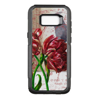 Tulip And Bohemian Waxwing OtterBox Commuter Samsung Galaxy S8+ Case