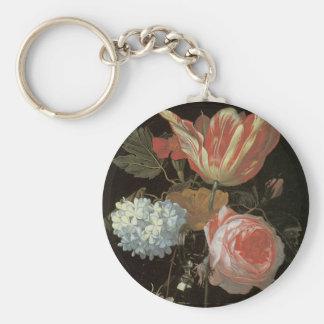Tulip and Rose Fine Art Keychain