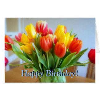 Tulip Birthday Greeting Card