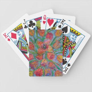 Tulip Burst Bicycle Playing Cards