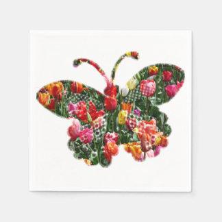 Tulip butterfly paper serviettes
