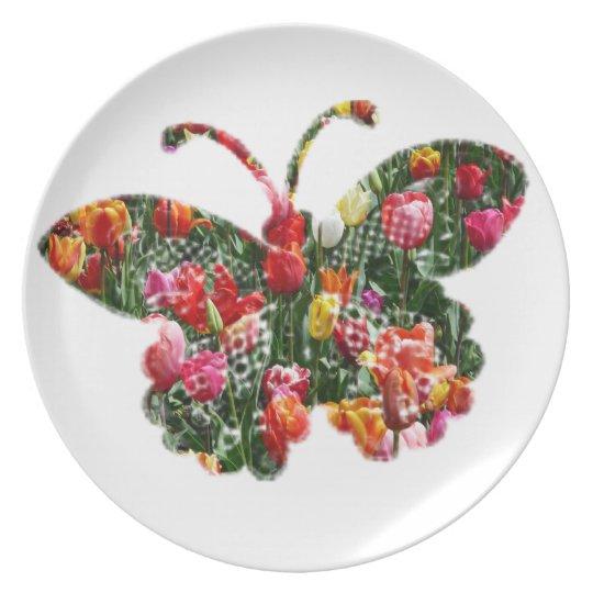 Tulip butterfly plate