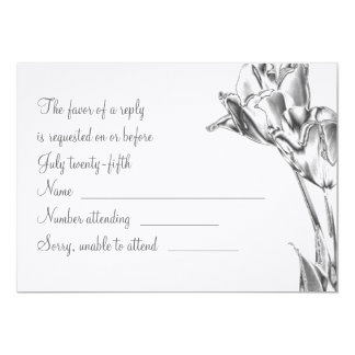 Tulip Chrome RSVP Card