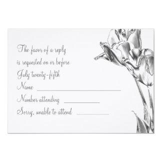 Tulip Chrome RSVP Card 13 Cm X 18 Cm Invitation Card