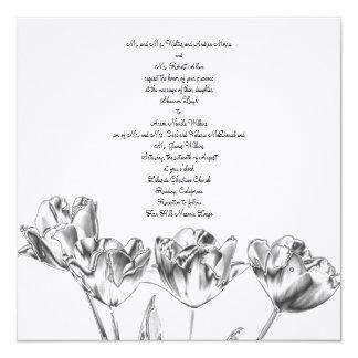 Tulip Chrome Wedding Invitation