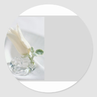 Tulip Crystal Round Sticker