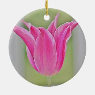 Tulip Round Ceramic Decoration