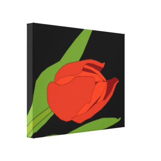 TULIP DIGITAL ART WALL ART Wrapped Canvas Stretched Canvas Prints