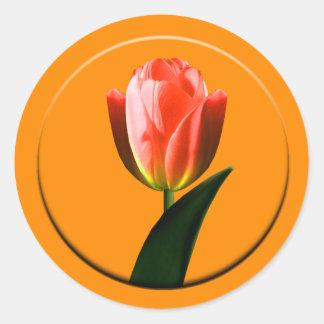 Tulip Envelope Seal Round Sticker
