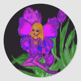Tulip Fairy Classic Round Sticker