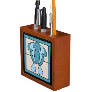 Tulip Flower Art Deco Expression Desk Organiser