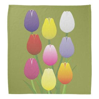 Tulip Flower Bandana