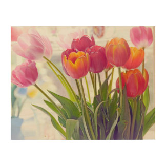 Tulip Flower Beauty Wood Wall Art