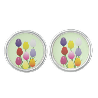 Tulip Flower Cuff Links