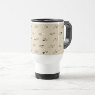 Tulip Flower Pattern Retro Sophisticated Beige Travel Mug