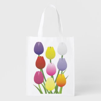 Tulip Flower Reusable Grocery Bag