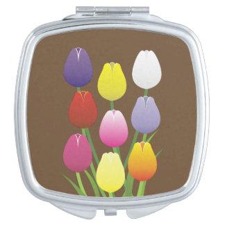 Tulip Flower Travel Mirror