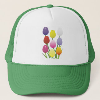 Tulip Flower Trucker Hat