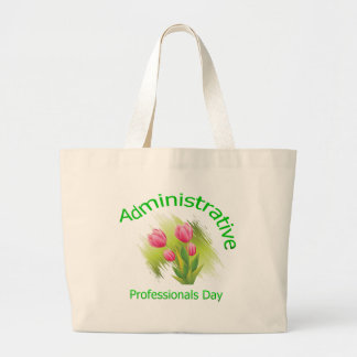 Tulip Flowers Administrative Professionals Day Jumbo Tote Bag