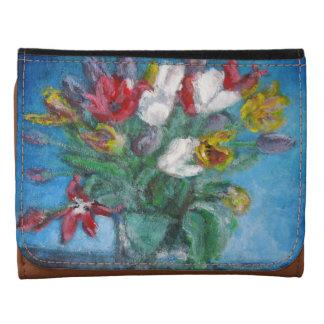 Tulip Flowers Vase Floral Wallet
