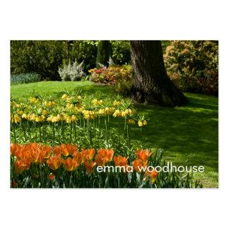 Tulip Garden DSC0838 Business Card Templates