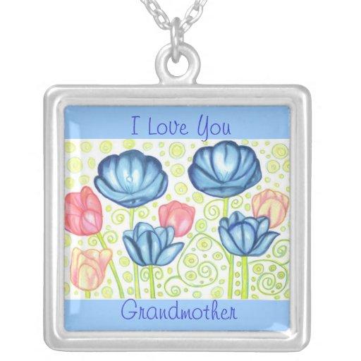 Tulip Garden Grandmother Love Necklace