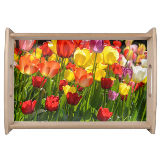 Tulip Garden in the Spring Serving Tray
