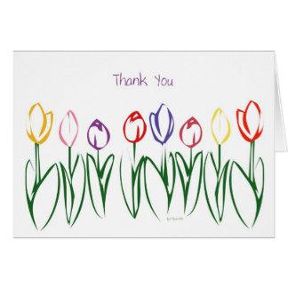 Tulip Garden-ThankYou Greeting Card
