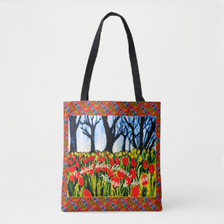 Tulip Garden Tote I must have flowers Market Bag