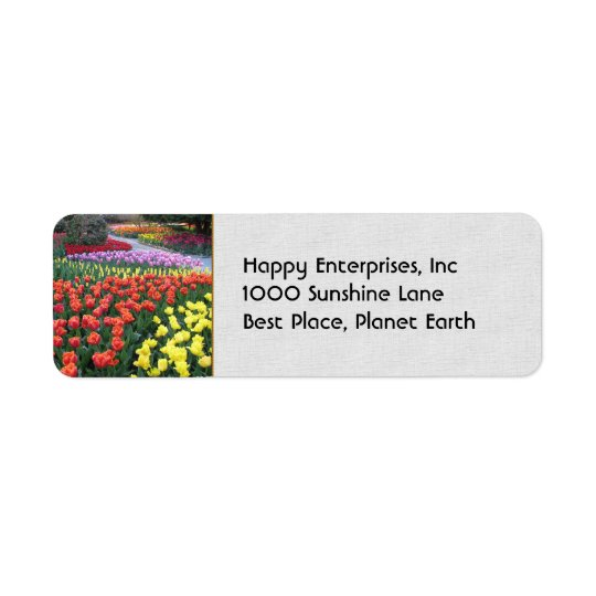 Tulip Gardens Return Address Label