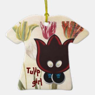 Tulip Girl Christmas Ornament