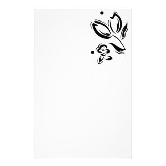 Tulip graphic stationary stationery paper