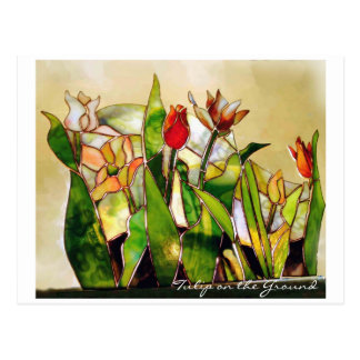 Tulip Ground Happiness POSTCARD