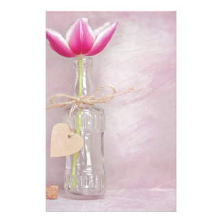 Tulip in bottle stationery paper