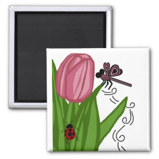 Tulip n dragonfly magnet