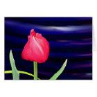 Tulip on Blue Pot Card