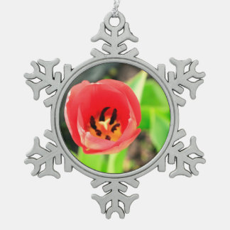 Tulip Pewter Snowflake Decoration
