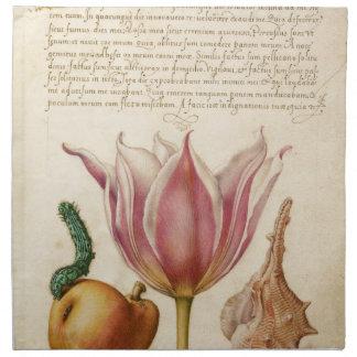 tulip pink catepillar napkin