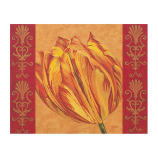 Tulip Power I Wood Print