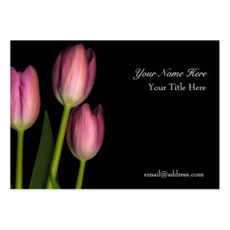 Tulip Reflection Business Card... - Customized Pack Of Chubby Business Cards